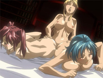 Sexy babes banged by hentai dickgirl!